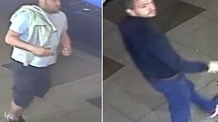 The two suspects wanted by police for the violent assault in Fairfax Road in South Hampstead. Pictur
