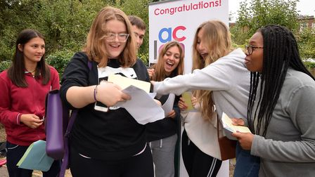 Eve Dickie, 18, was so nervous she got lost on the way to pick up her A-level results. Picture: Poll