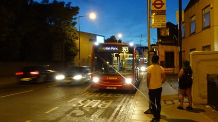 The 393 bus is no longer going to Clapton Pond. Picture: Ian Rathbone