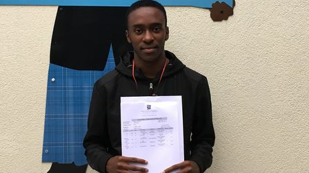 Keegan Desouza achieved an A* and two As in his A-levels at Petchey Academy. Picture: Lucas Cumiskey