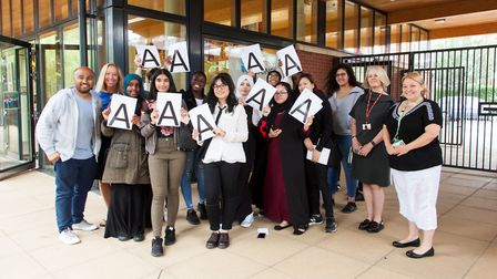 A-level results day at Hornsey School for Girls. Photo by Hornsey School for Girls