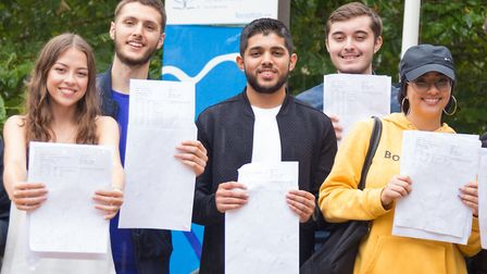 A-level results day at Paddington Academy. Photo by CatAlinAlecu