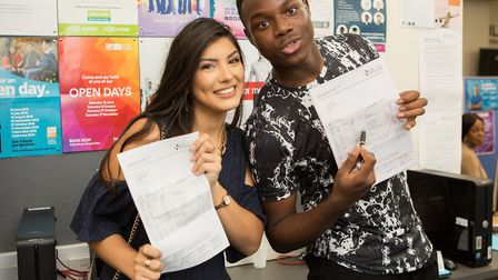 A-level results day at New City College. Photo by New City College