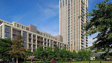 A CGI of what the tower in Avenue Road will look like