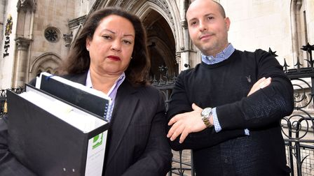 Anti-CS11 campaigners Jessica Learmond-Criqui and Daniel Howard outside the Royal Courts of Justice.