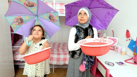 Adel and Dalya Fadhel and their two daughters were forced to sleep in the living room of their CityW