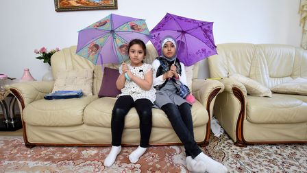 While CityWest Homes took 5 days to deal with a series of leaks, Neda, 6, and Dania, 9, were forced