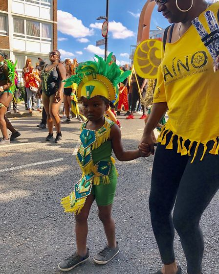 Performers in the Hackney Carnival parade. Picture: Emma Bartholomew