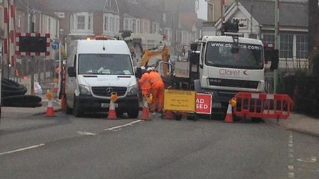 People are warned of delays and diversions in Oulton Broad. Photo: Suffolk and Norfolk Travel Inform