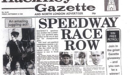 The Hackney Gazette on September 16, 1988.