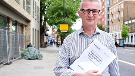 Jon Williams, director of Heathwatch Hackney, on Mare Street with the report. Picture: Polly Hancock