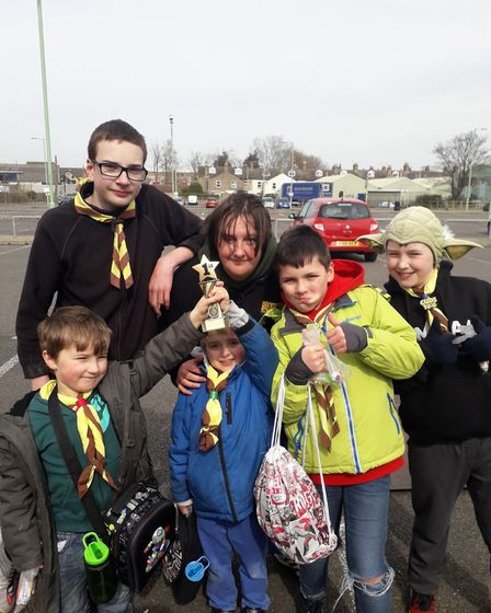 Winners of the litter pick competition, 1st Pakefield Scouts. Picture: Clare Stachan.