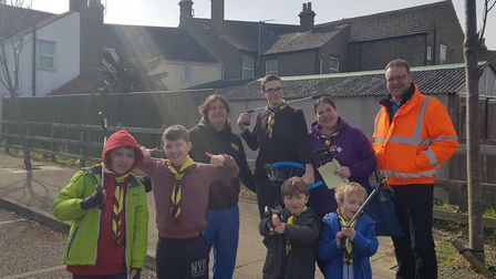 The community came together for the Big Kirkley Clean Up. Picture: Matthew Grafton.