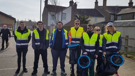 The community came together for the Big Kirkley Clean Up. Picture: Clare Stachan.