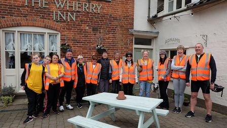 Brainwave Independence Group held its annual charity bike ride from Lowestoft to Geldeston. Picture: