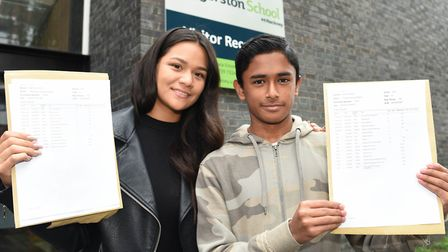 Estefania Gorzon and Tahmid Rahim, both joined Haggerston School five years ago from their homes in