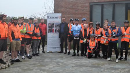 More than 20 cyclists took part in the 32-mile ride. Picture: Howard Thomas