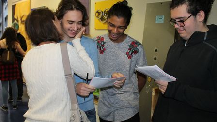 GCSE results day at Greig City Academy. Photo by Greig City Academy