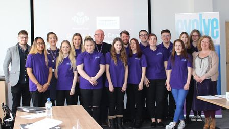 A group of trainees from Lowestoft and Great Yarmouth are celebrating after completing a training co
