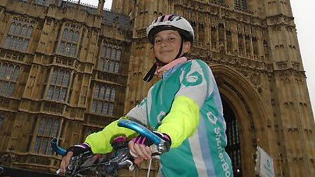 She cycled a total of 488 miles, giving her the chance to see a variety of places across the UK. Pic