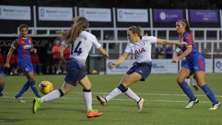 Josie Green scores for Tottenham Hotspur Ladies at Crystal Palace Ladies (pic: Wu's Photography).