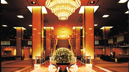 The Main Lobby of Tokyo's Imperial Hotel