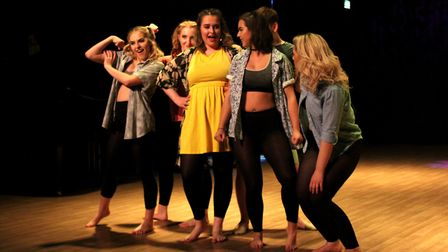 'Does Your Mother Know' from Mamma Mia was performed at Lowestoft Sixth Form College's Performance S