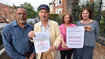 Four of the residents of Jacksons Lane who opposed the expansion of neighbouring nursery. From left