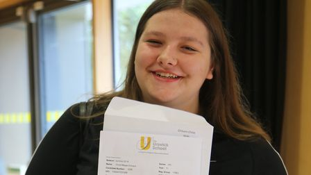The Urswick School student Chloe Chilvers on GCSE results day.