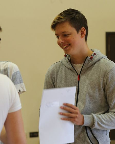 The Urswick School student Mikolay Cios on GCSE results day.