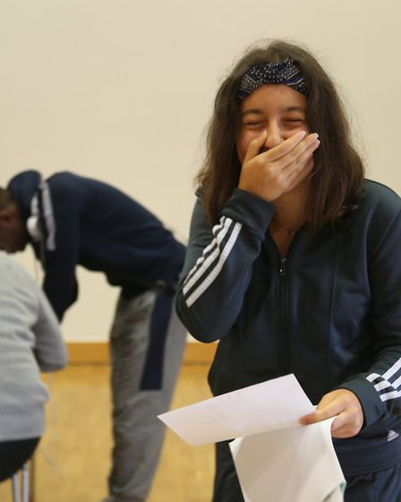 The Urswick School student Ilke Delice on GCSE results day.