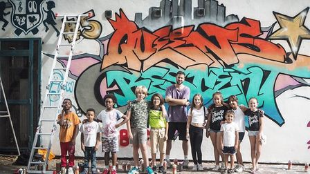 Lessons are taught by industry professionals such as graffiti artist Sam Sure. Picture: Debbi Clark