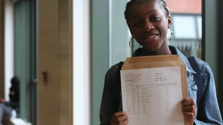 Faith Babatunde was over the moon with her results. Picture: Our Lady's Convent High School