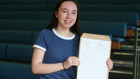 Emma Owens with her results. Picture: Our Lady's Convent High School