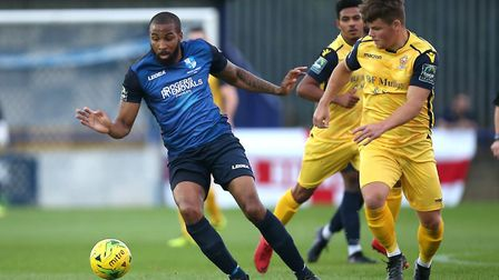 Marc Charles-Smith of Wingate & Finchley in action against Hornchurch (pic: Gavin Ellis/TGS Photo).