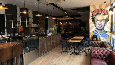 Inside the new Drury cafe.
