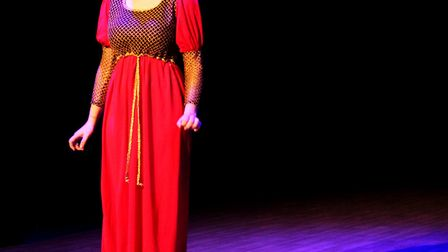 Chloe Jane Smith performs at Lowestoft Sixth Form College's Performance Showcase. Picture: Ella-Rose