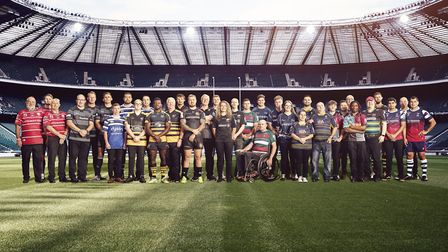 Players and community heroes from all 12 Gallagher Premiership clubs were present at Twickenham Stad