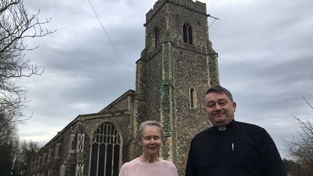Church warden Pam Shaw and Rev Michael Asquith. Photo: James Carr
