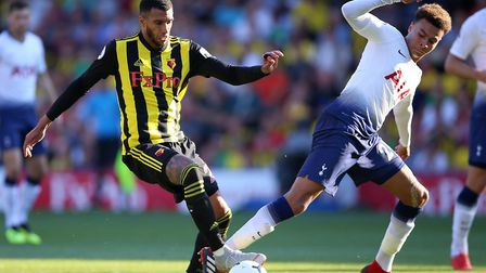 Watford's Etienne Capoue (left) and Tottenham Hotspur's Dele Alli (pic: Nigel French/PA)