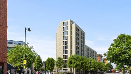 An artist's impression of the hostel in Kingsland Road. Picture: Nicholas Taylor and Associates