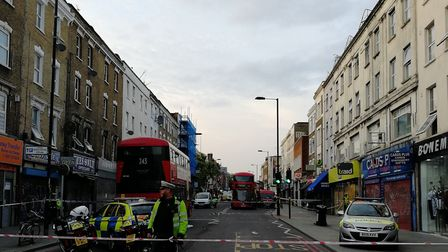 The scene of the hit and run in Dalston. Picture: DAVID PEAT