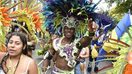 Fabulous costumes at last year's Hackney Carnival. Picture: Hackney Council