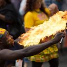A fire eater at last year's Hackney Carnival. Picture: Hackney Council