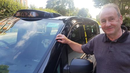 Cab driver Tony Casey with his taxi in St John's Wood. Picture: Harry Taylor