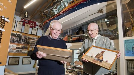 Jim Aguss and Colin Dixon from Lowestoft Maritime museum. Picture: Nick Butcher
