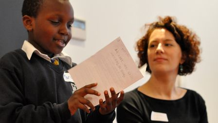 Lucy Macnab in a mentoring workshop. Picture: Yemisi Blake