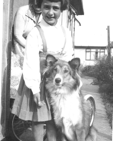 Heather Maisner with her dog Timmy - who turned out to be a girl