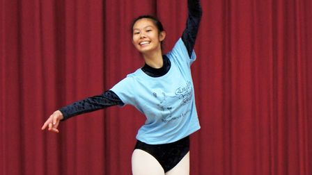 Olivia Cheung will appear in the English Youth Ballets Cinderella in Hollywood. photo: Ben Garner.