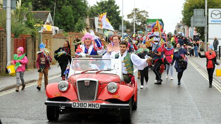 Lowestoft Carnival parade 2012.Picture: James Bass